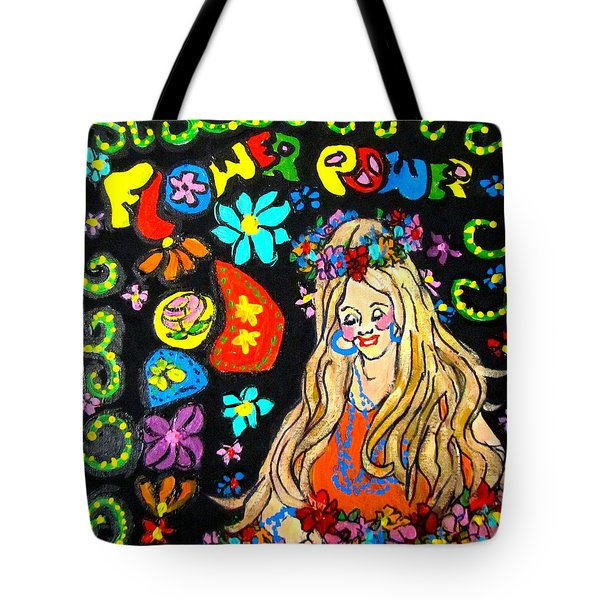 Flower Power Tote Bag by Barbara O'Toole