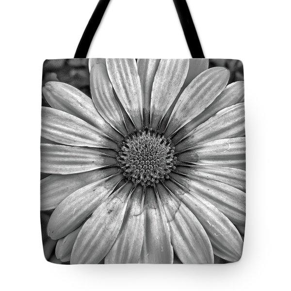 Flower Power - Bw Tote Bag
