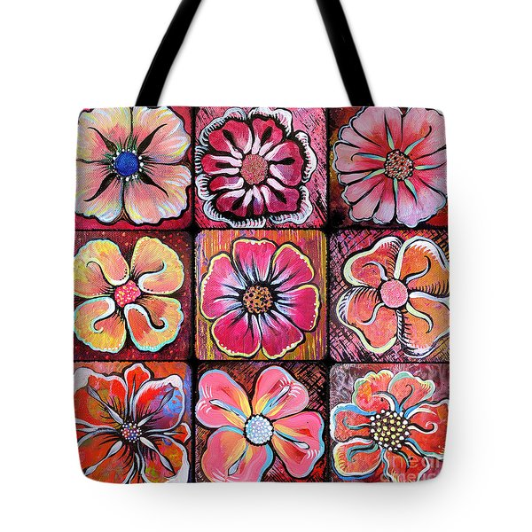 Flower Power Montage Tote Bag
