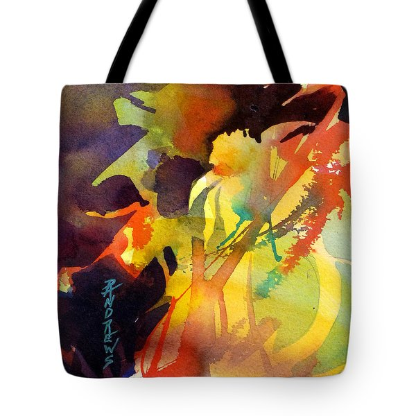 Tote Bag featuring the painting Flower Power by Rae Andrews