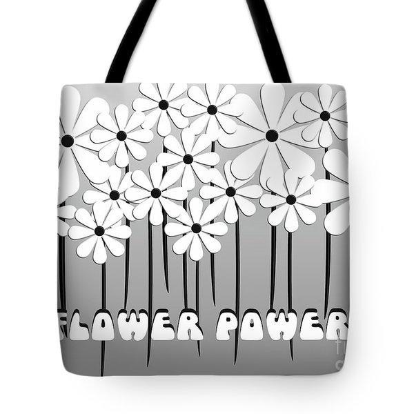 Flower Power - White  Tote Bag