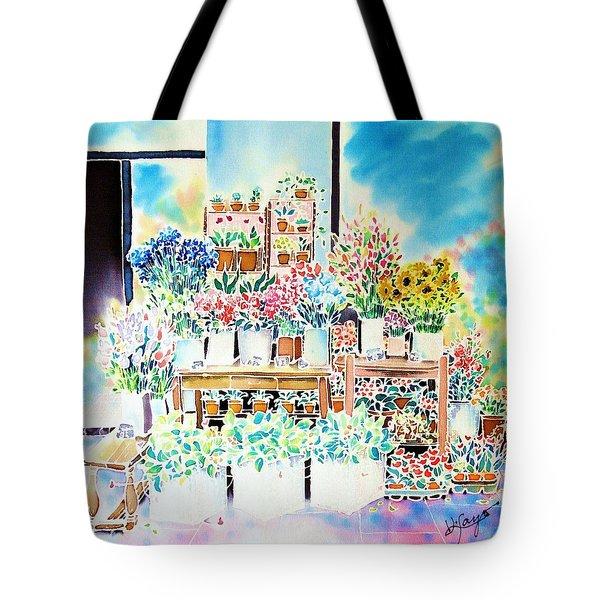 Flower Shop In Paris Tote Bag