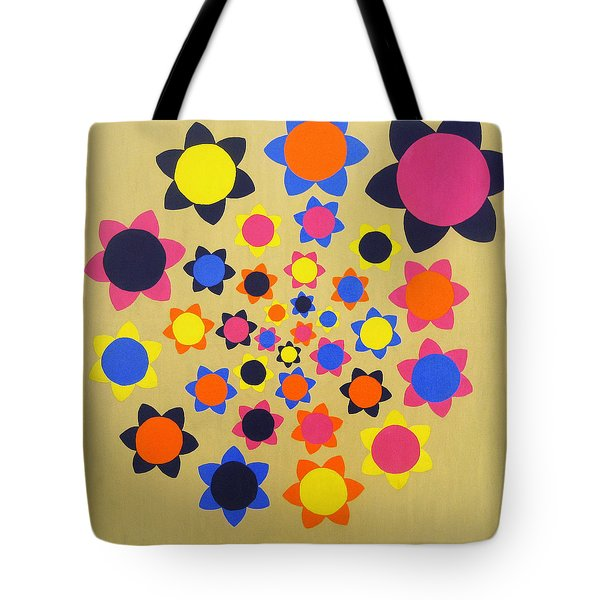 Flower Shower Tote Bag by Oliver Johnston