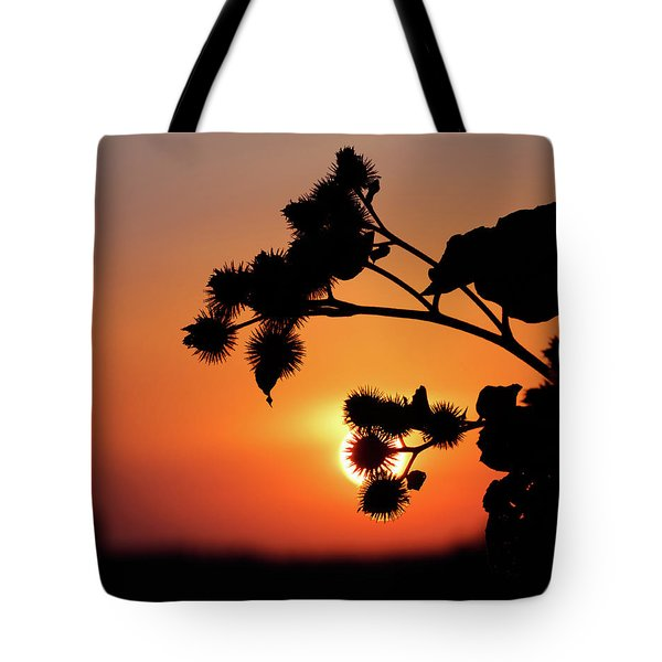 Flower Silhouette Tote Bag