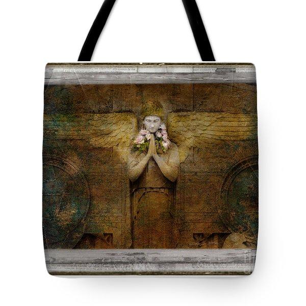 Flower Spes Angel Tote Bag by Craig J Satterlee