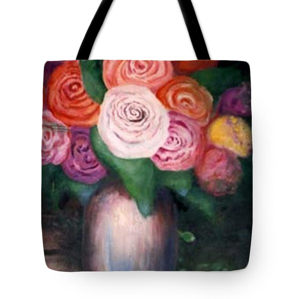 Flower Spirals Tote Bag