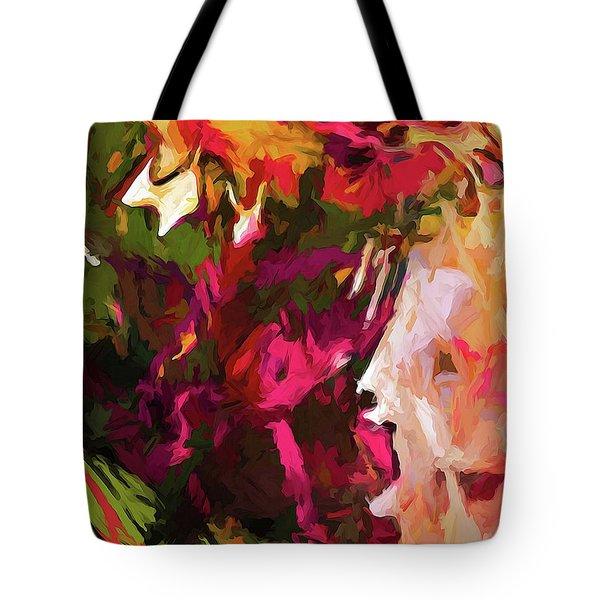 Flower Splash Tote Bag