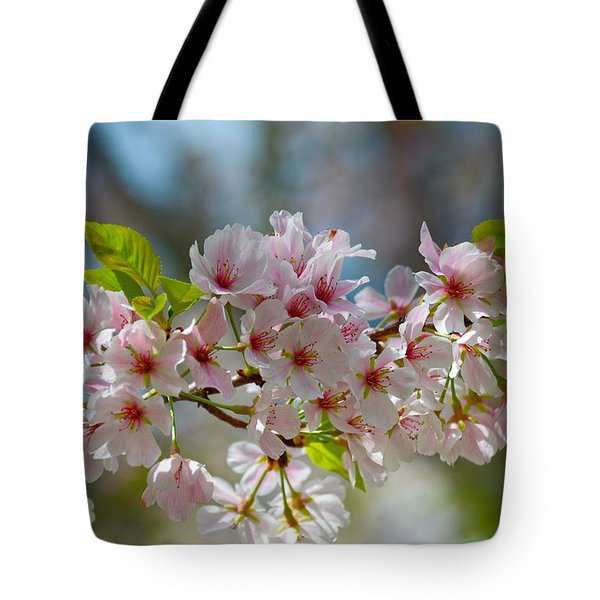 Flower Spray Tote Bag by Linda Brown