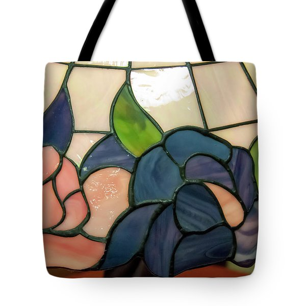 Tote Bag featuring the photograph Flower Stained Glass  by Chris Flees