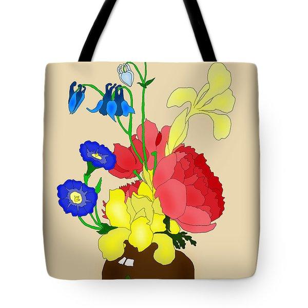 Floral Still Life 1674 Tote Bag