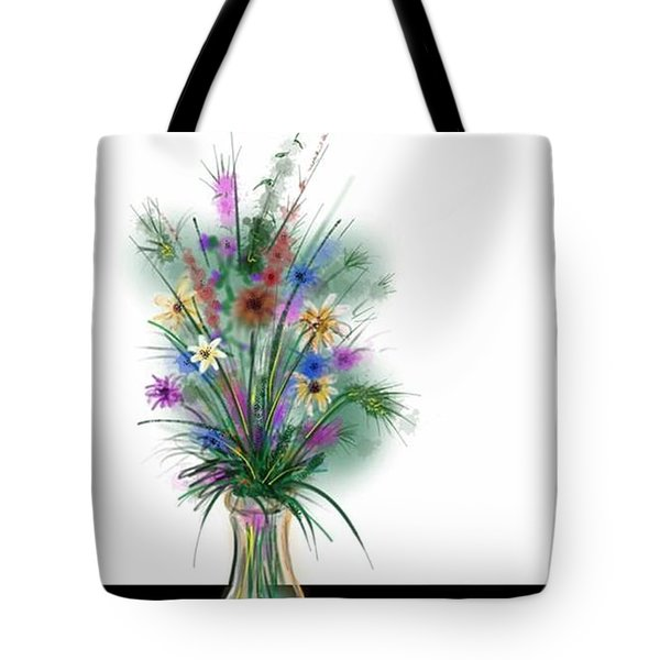 Tote Bag featuring the digital art Flower Study One by Darren Cannell