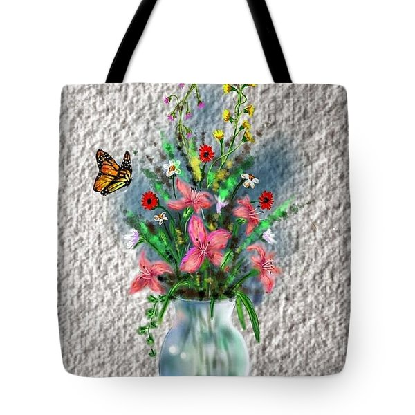 Tote Bag featuring the digital art Flower Study Three by Darren Cannell