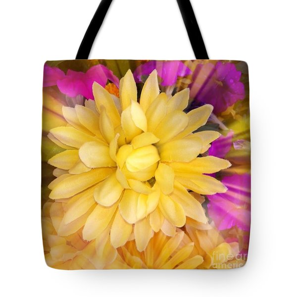 Flower Sunburst  Tote Bag