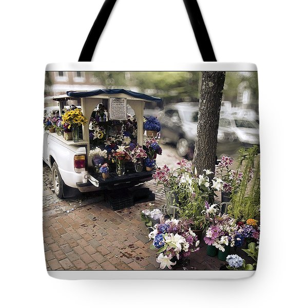 Flower Truck On Nantucket Tote Bag by Tammy Wetzel