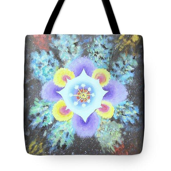 Floral Vortex Tote Bag