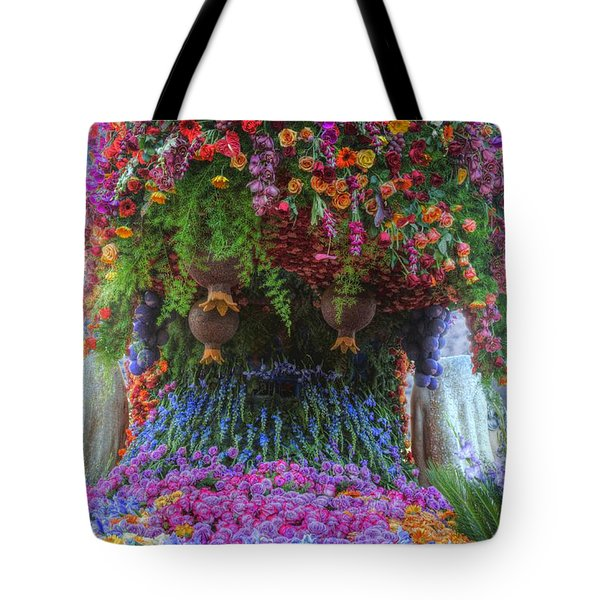 Flower Wave Tote Bag