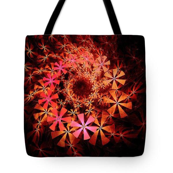 Flower Whirlpool Tote Bag by Anastasiya Malakhova