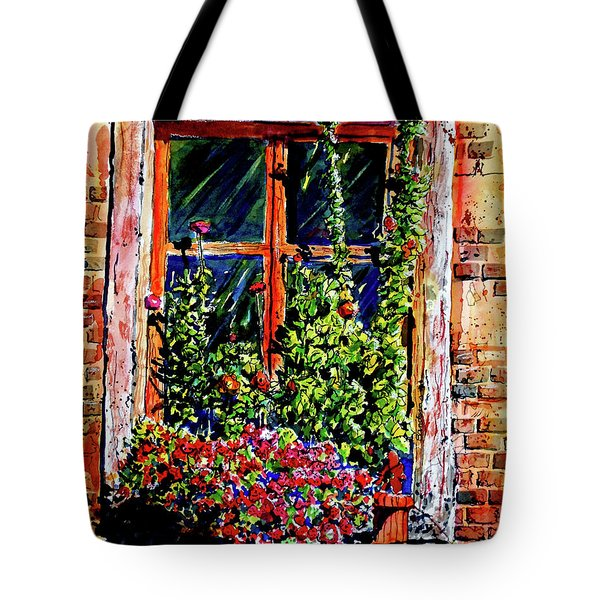 Flower Window Tote Bag