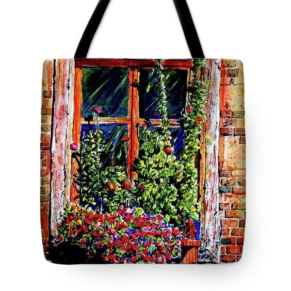 Flower Window Tote Bag