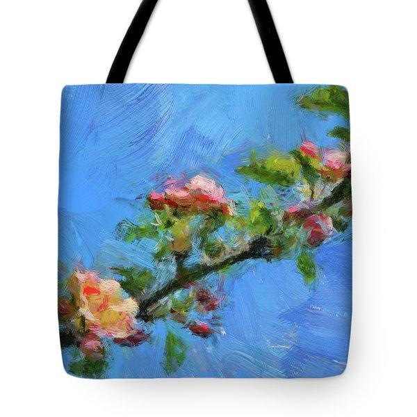 Flowering Apple Branch Tote Bag by Dragica Micki Fortuna