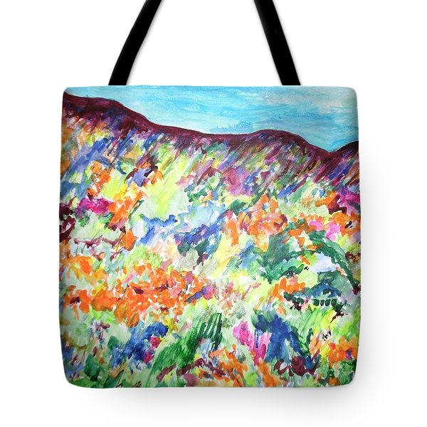 Flowering Hills Tote Bag by Esther Newman-Cohen