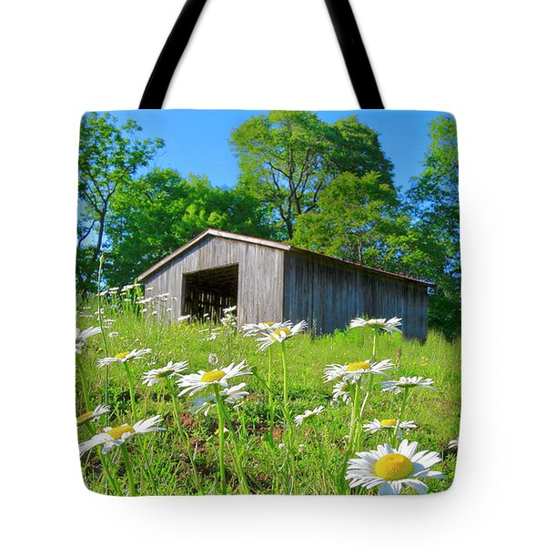 Flowering Hillside Meadow Tote Bag