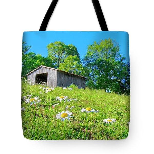 Flowering Hillside Meadow - View 2 Tote Bag