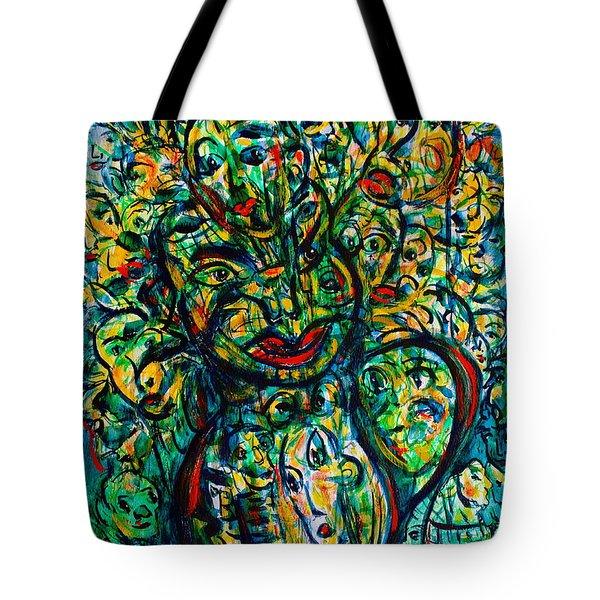 Flowering Humans Tote Bag by Natalie Holland