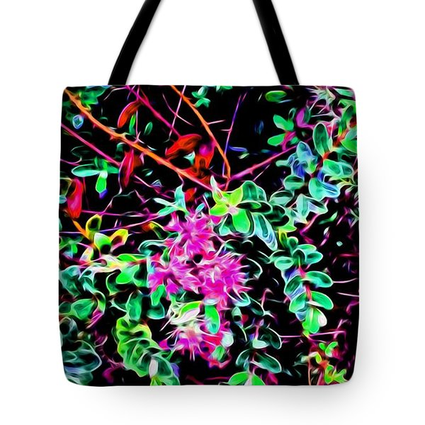 Flowering In Abstract 5 Tote Bag