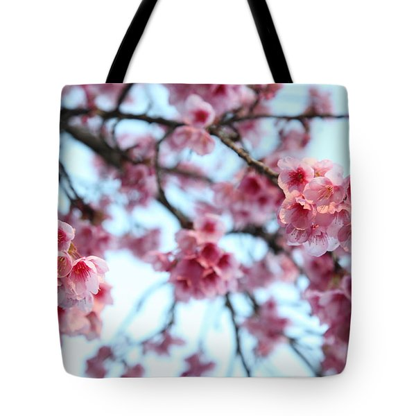 Tote Bag featuring the photograph flowering of the almond tree, Jerusalem by Yoel Koskas