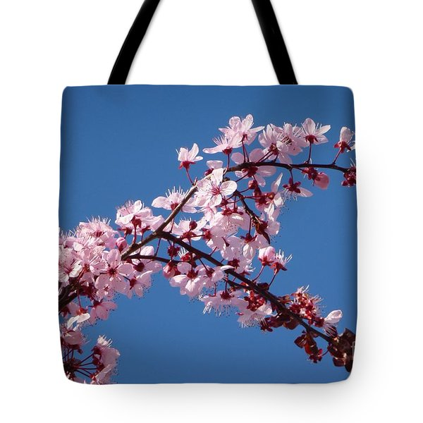 Flowering Of The Plum Tree 4 Tote Bag by Jean Bernard Roussilhe