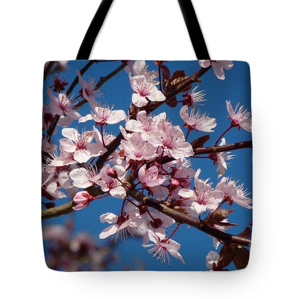 Flowering Of The Plum Tree 5 Tote Bag by Jean Bernard Roussilhe