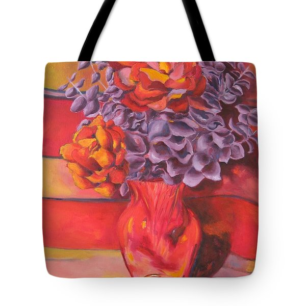 Flowering Orange Tote Bag by Lisa Boyd