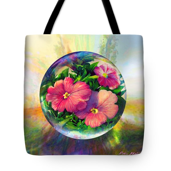 Tote Bag featuring the painting Flowering Panopticon by Robin Moline