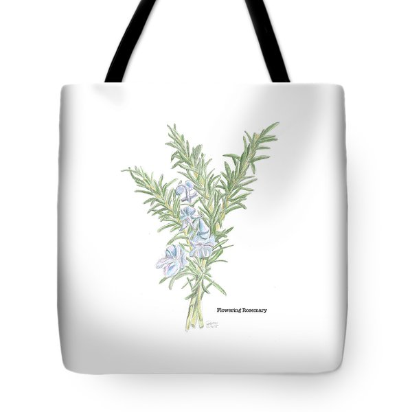 Flowering Rosemary Tote Bag