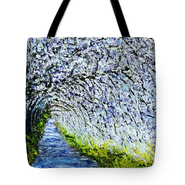Flowering Tree Lane Tote Bag