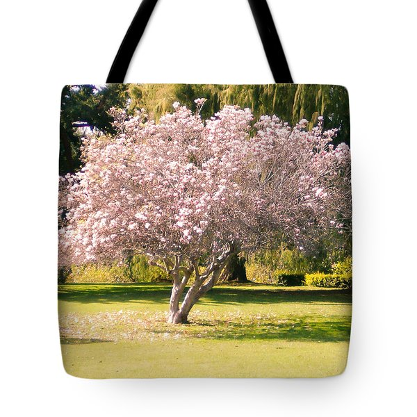Flowering Tree Tote Bag by Mark Barclay