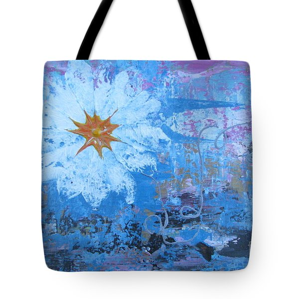 Tote Bag featuring the painting Flowers 19 by Jacqueline Athmann