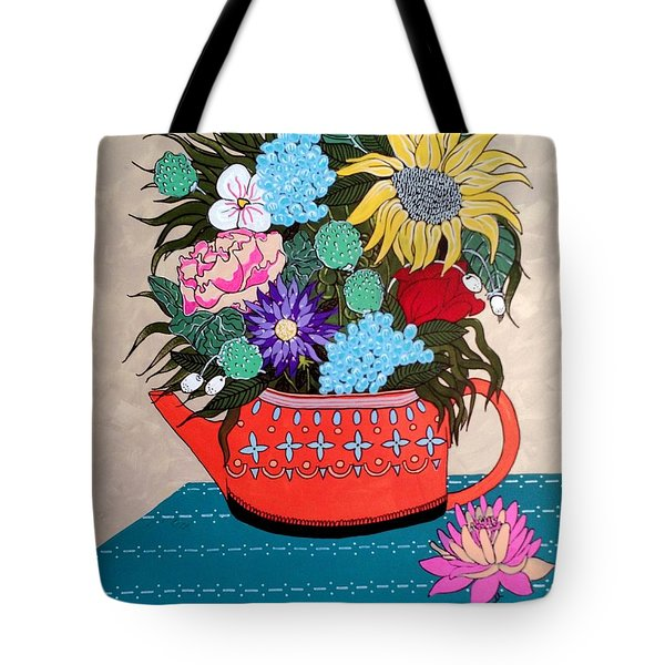 Tote Bag featuring the painting Flowers by Amy Sorrell