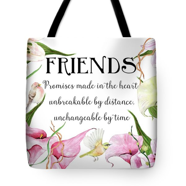 Flowers And Birds Tote Bag