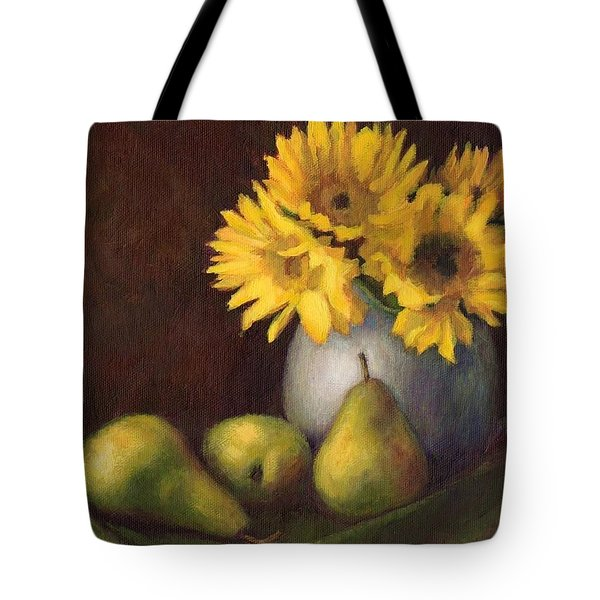 Flowers And Fruit Tote Bag by Janet King