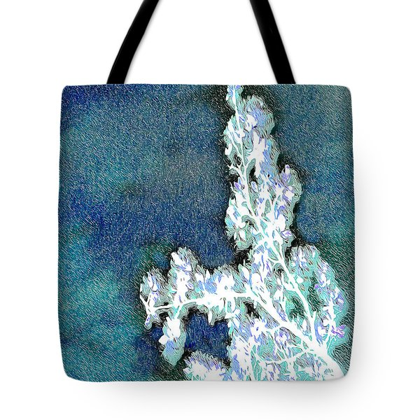 Flowers And Ice Tote Bag