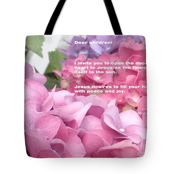 Flowers And Joy  Tote Bag