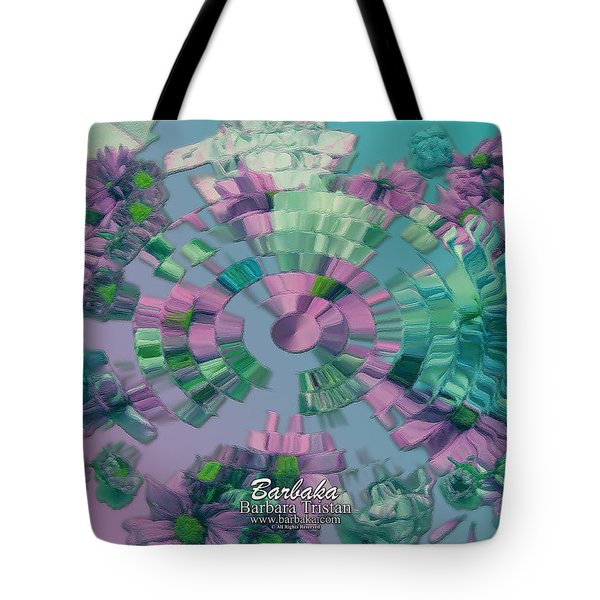 Flowers And Paper Tote Bag by Barbara Tristan
