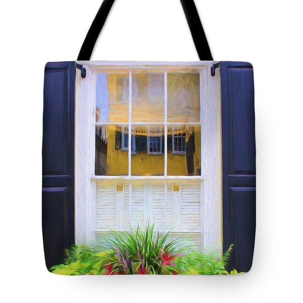 Flowers And Reflections Tote Bag