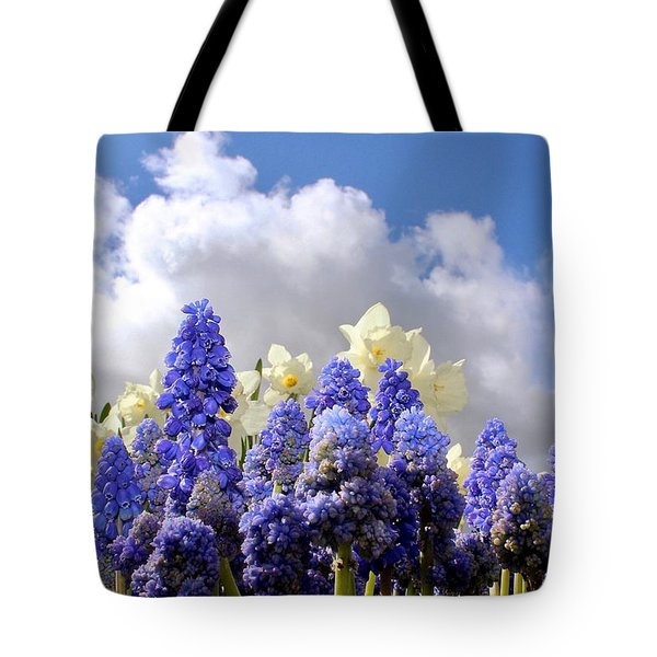 Flowers And Sky Tote Bag