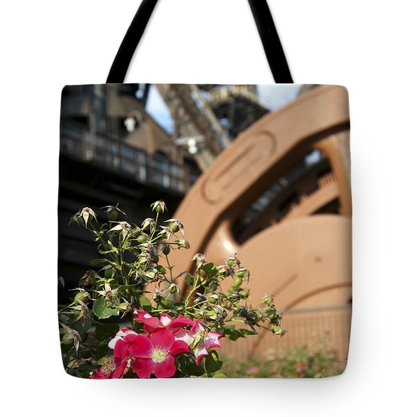 Flowers And Steel Tote Bag