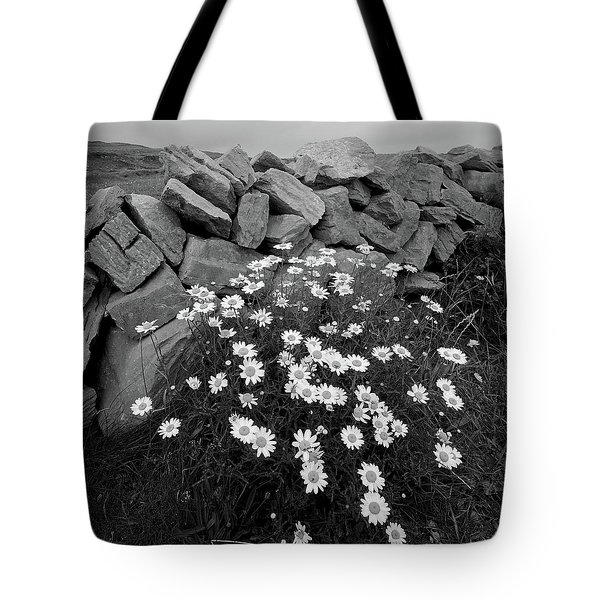 Flowers And Stones Tote Bag