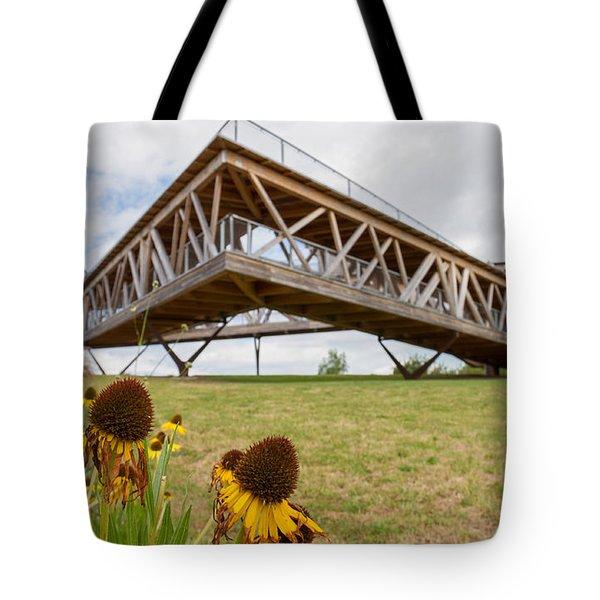 Flowers And The Belvedere Tote Bag