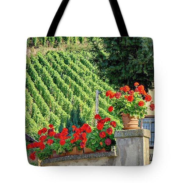 Flowers And Vines Tote Bag by Alan Toepfer